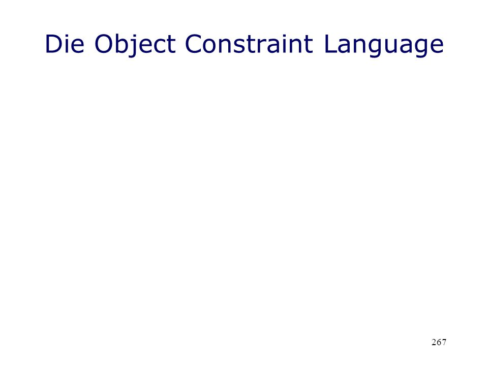 Die Object Constraint Language
