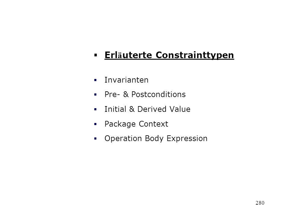 Erläuterte Constrainttypen