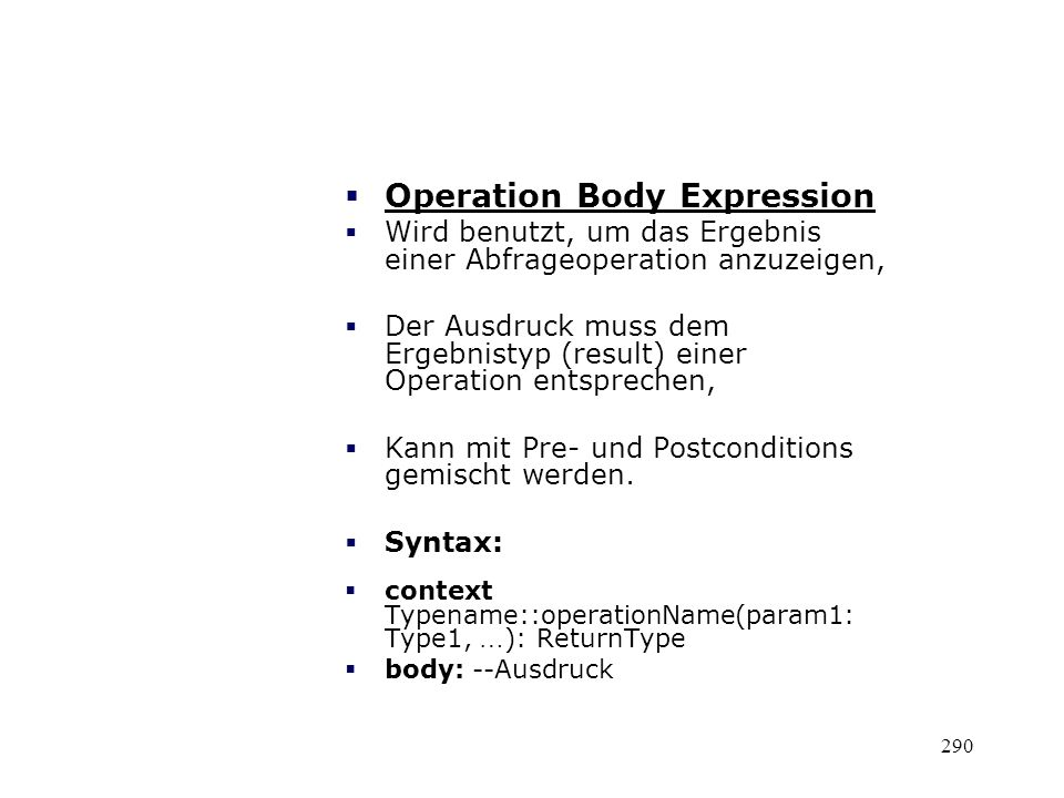 Operation Body Expression