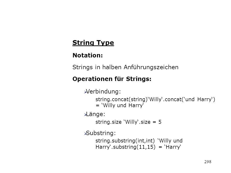 String Type Notation: Strings in halben Anführungszeichen