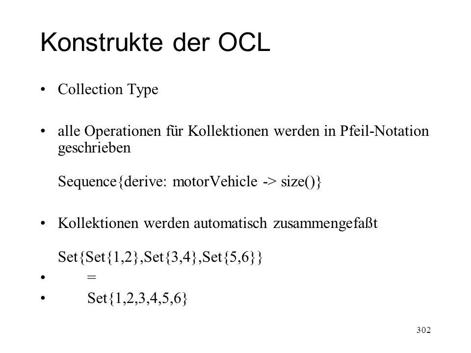 Konstrukte der OCL Collection Type