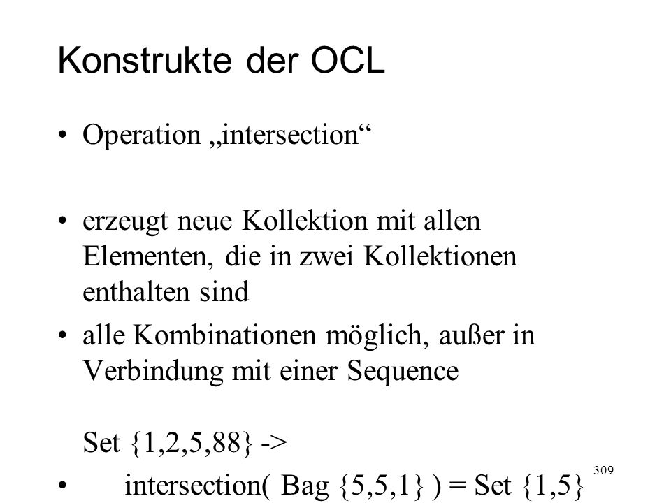"Konstrukte der OCL Operation ""intersection"