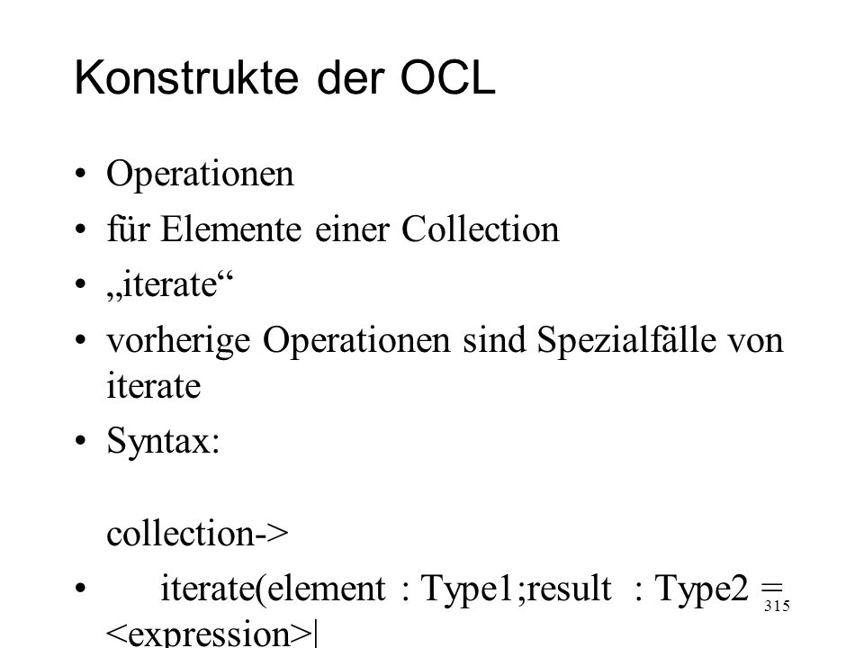"Konstrukte der OCL Operationen für Elemente einer Collection ""iterate"