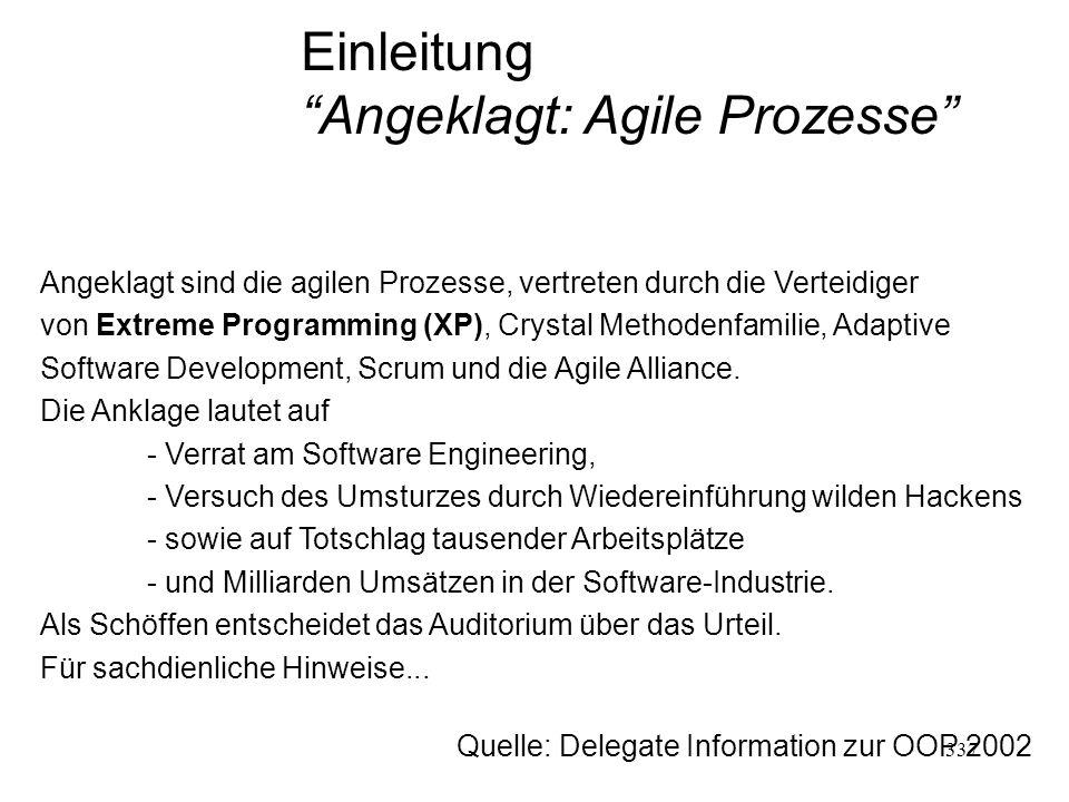 Angeklagt: Agile Prozesse