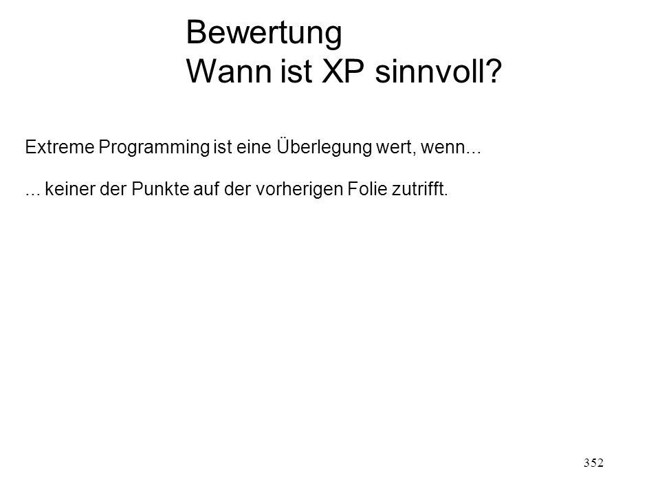 Bewertung Wann ist XP sinnvoll