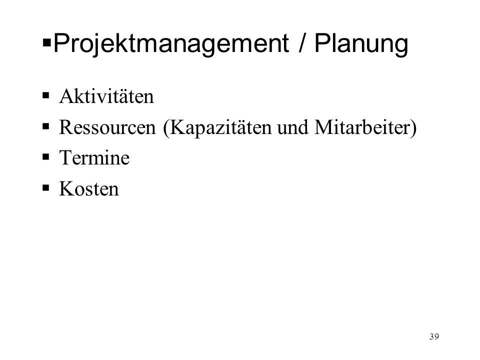 Projektmanagement / Planung