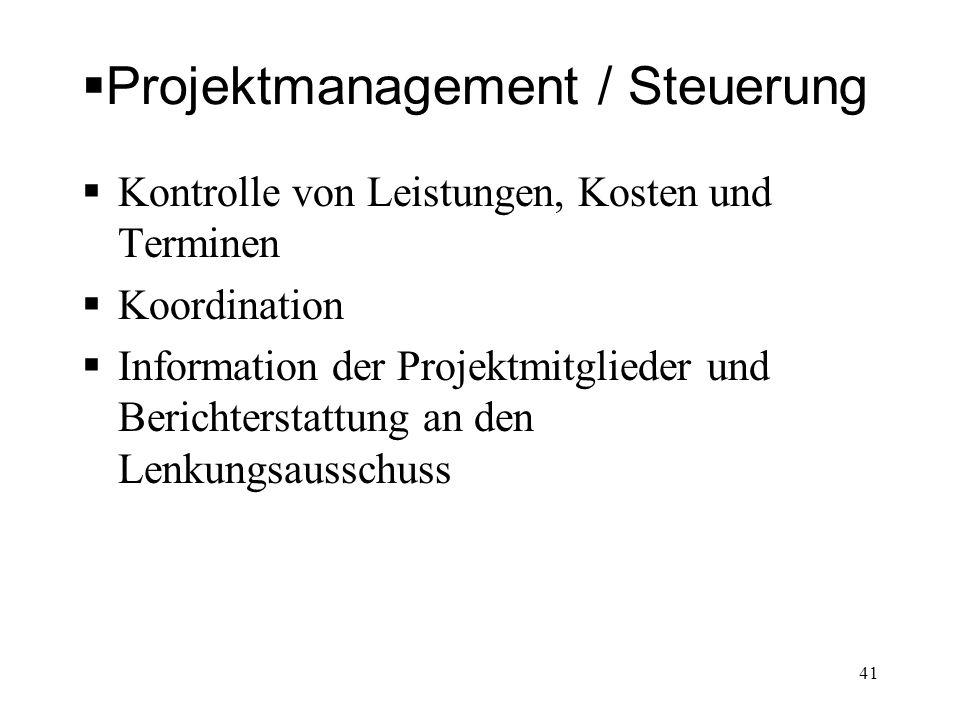 Projektmanagement / Steuerung