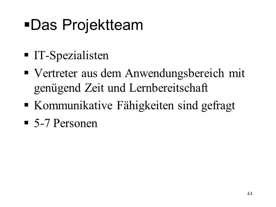 Das Projektteam IT-Spezialisten