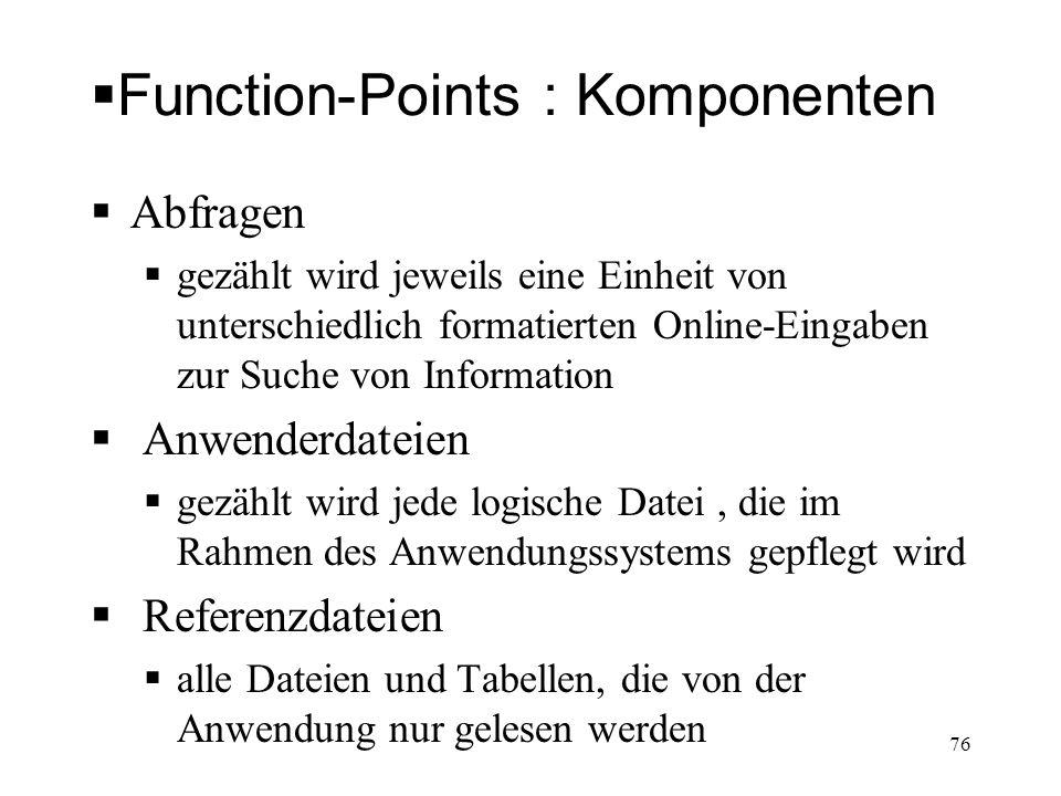 Function-Points : Komponenten