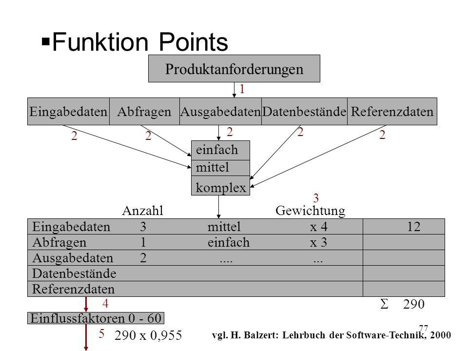 vgl. H. Balzert: Lehrbuch der Software-Technik, 2000