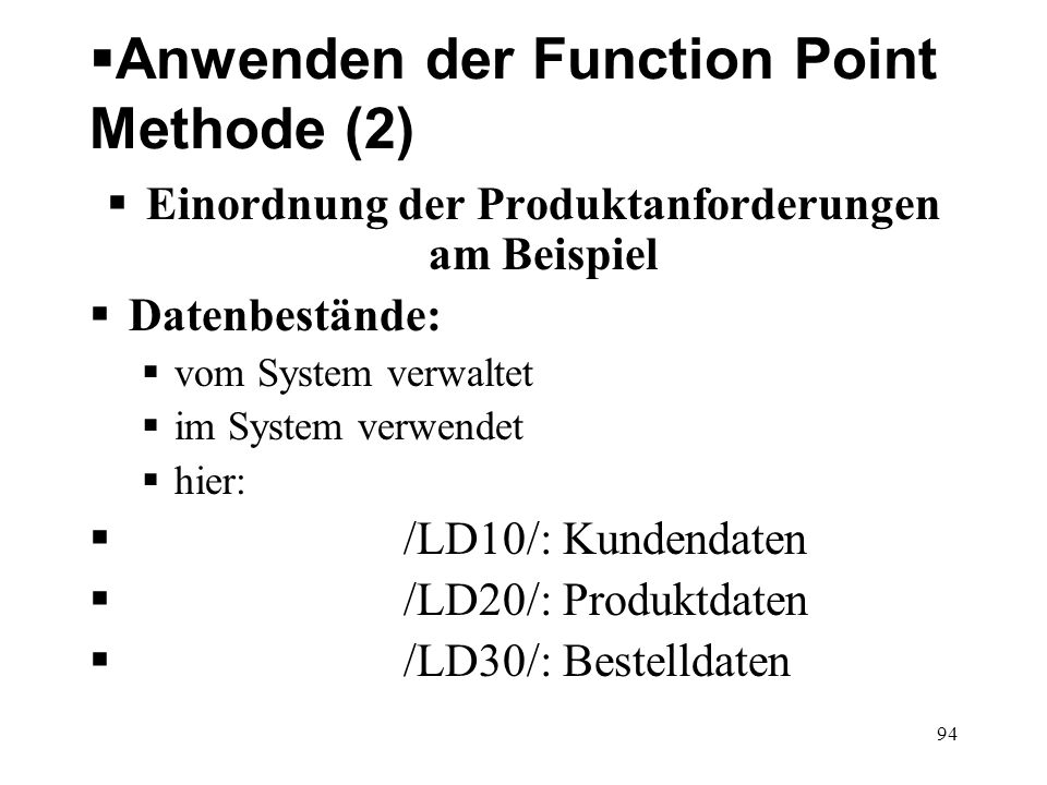 Anwenden der Function Point Methode (2)