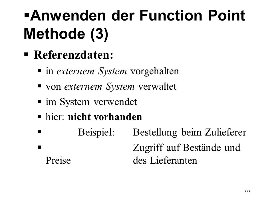 Anwenden der Function Point Methode (3)