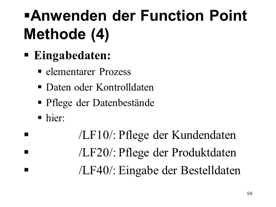 Anwenden der Function Point Methode (4)