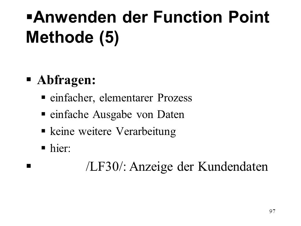 Anwenden der Function Point Methode (5)