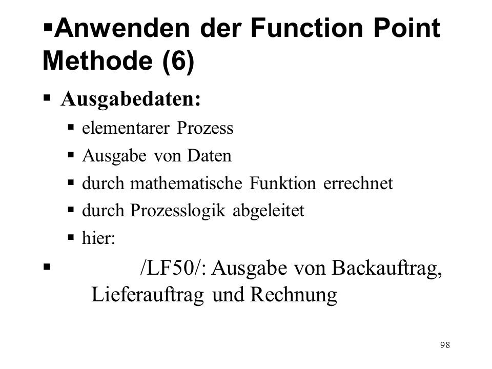 Anwenden der Function Point Methode (6)
