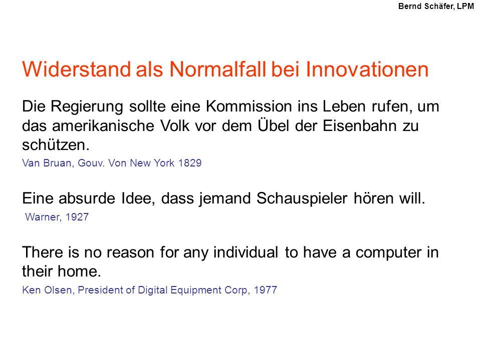 Widerstand als Normalfall bei Innovationen