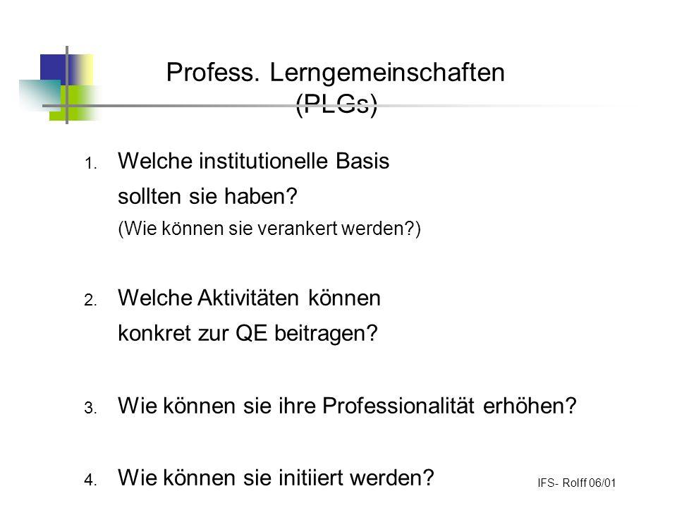 Profess. Lerngemeinschaften (PLGs)