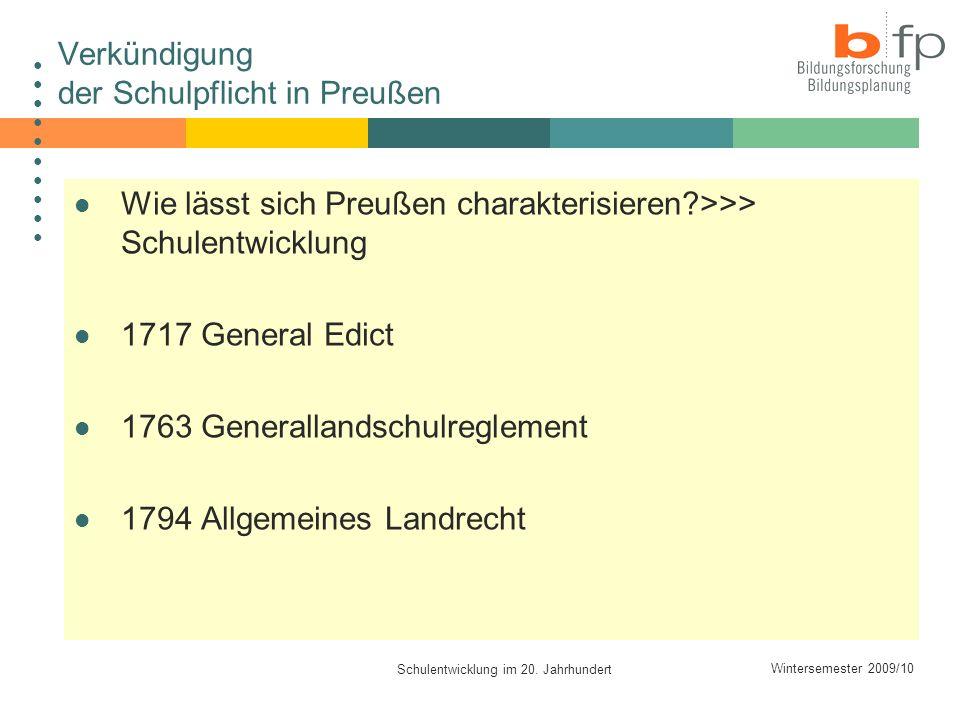 Verkündigung der Schulpflicht in Preußen