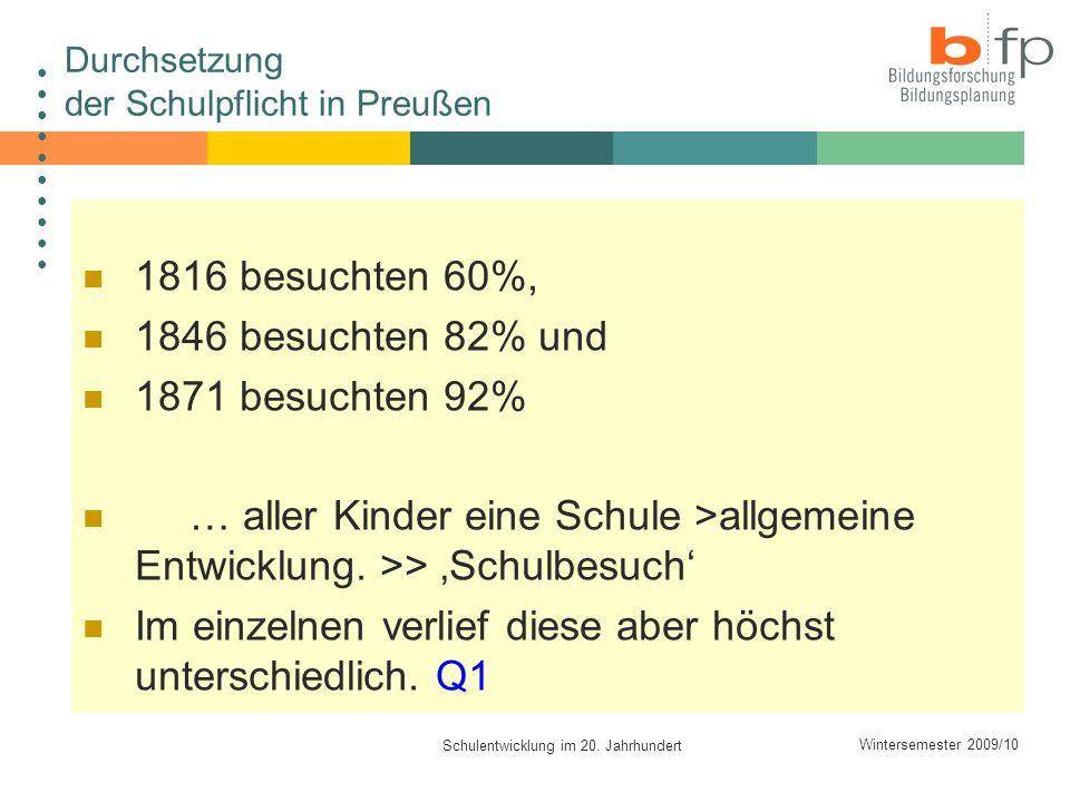Durchsetzung der Schulpflicht in Preußen