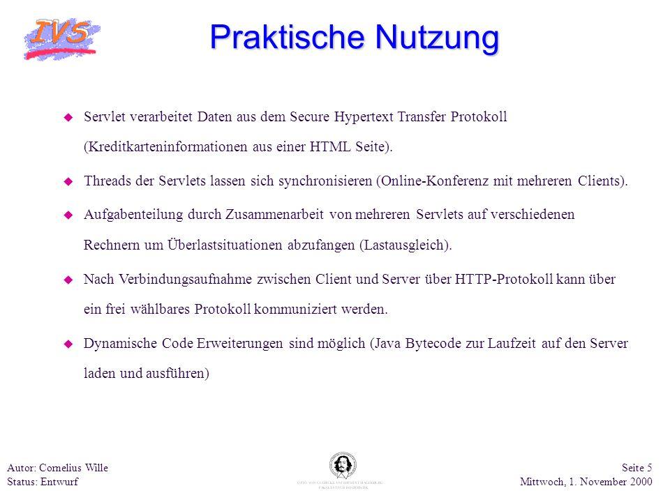 Praktische Nutzung Servlet verarbeitet Daten aus dem Secure Hypertext Transfer Protokoll (Kreditkarteninformationen aus einer HTML Seite).