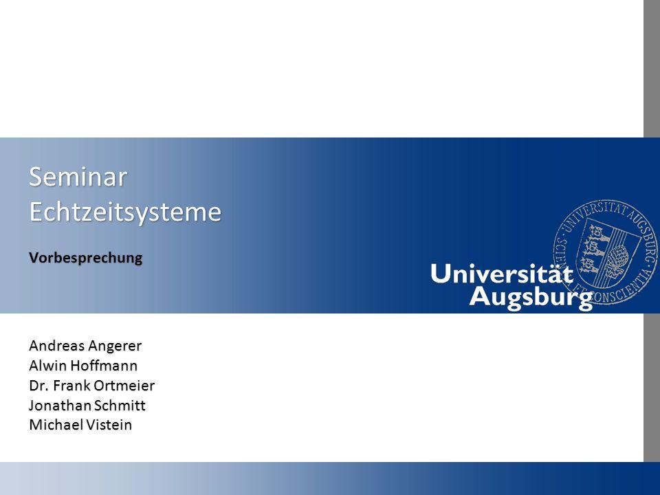 Seminar Echtzeitsysteme
