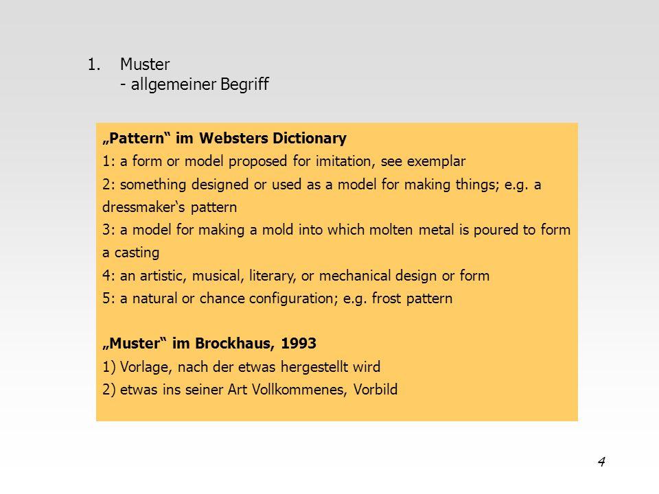 Muster - allgemeiner Begriff