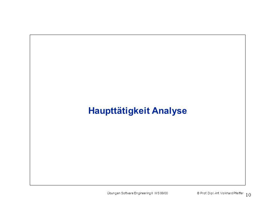 Haupttätigkeit Analyse