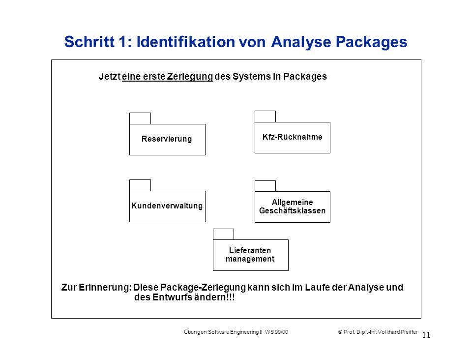 Schritt 1: Identifikation von Analyse Packages