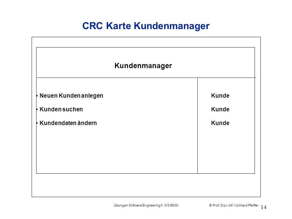 CRC Karte Kundenmanager