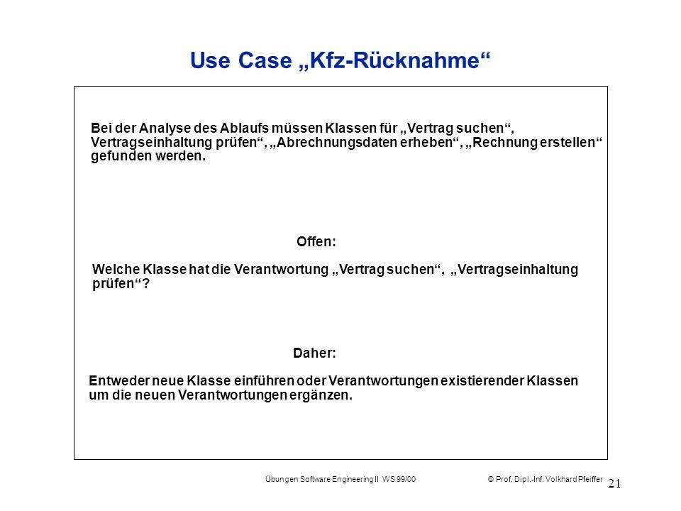 """Use Case """"Kfz-Rücknahme"""