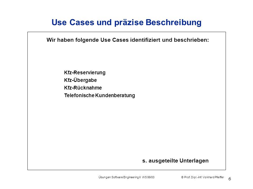 Use Cases und präzise Beschreibung