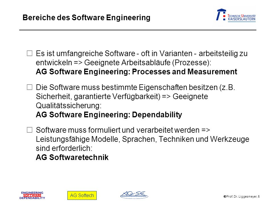 Bereiche des Software Engineering