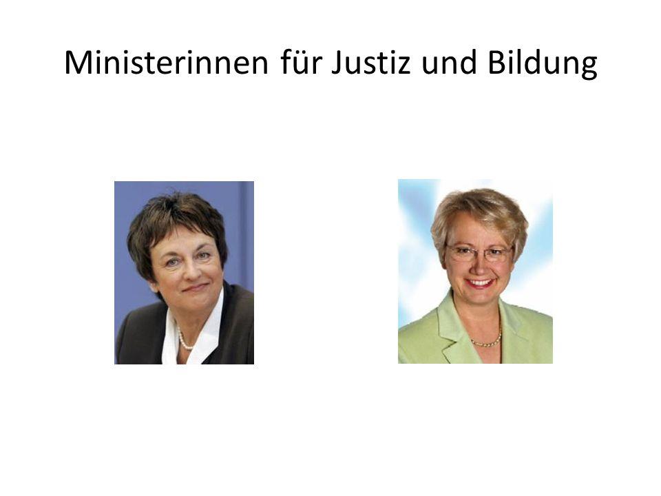 Ministerinnen für Justiz und Bildung