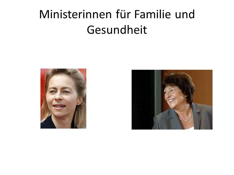 Ministerinnen für Familie und Gesundheit