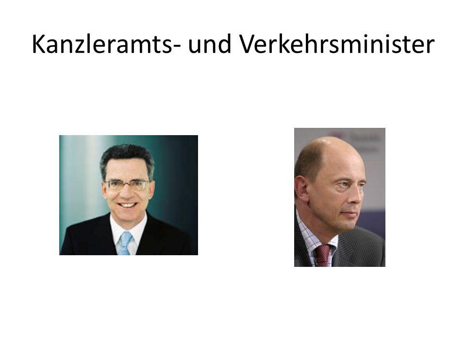 Kanzleramts- und Verkehrsminister