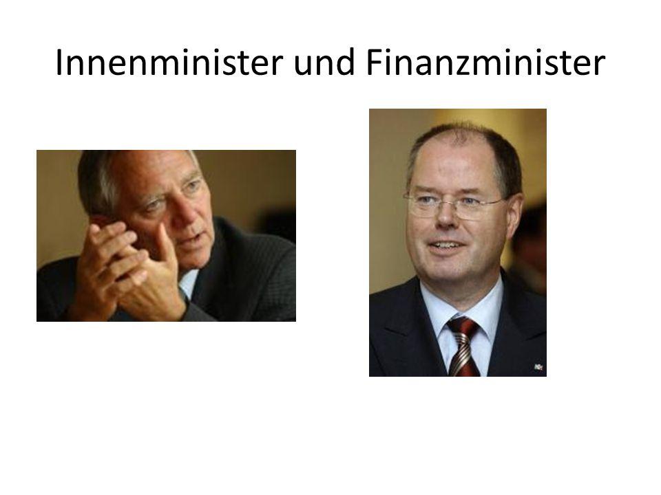 Innenminister und Finanzminister