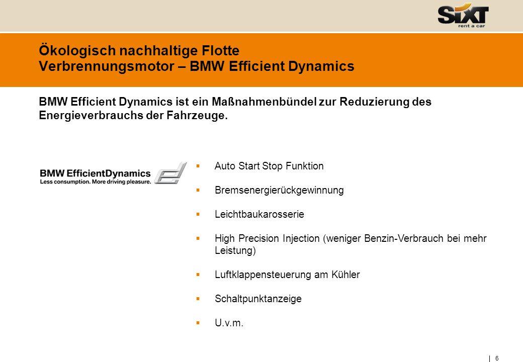 Ökologisch nachhaltige Flotte Verbrennungsmotor – BMW Efficient Dynamics
