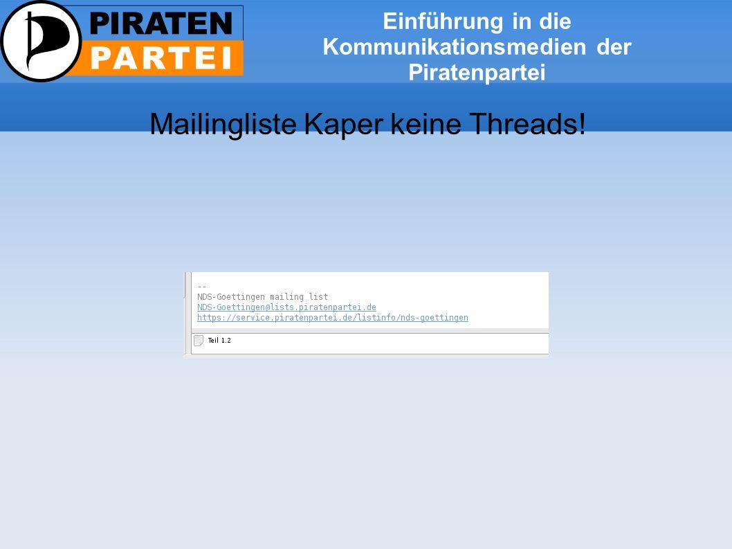 Einführung in die Kommunikationsmedien der Piratenpartei