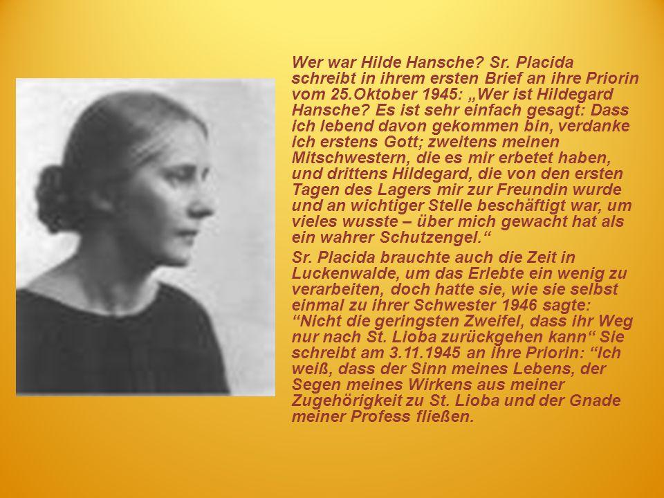 Wer war Hilde Hansche. Sr