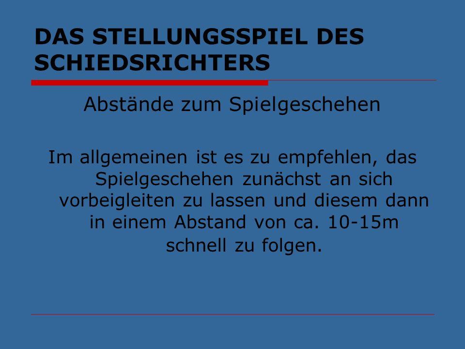 DAS STELLUNGSSPIEL DES SCHIEDSRICHTERS