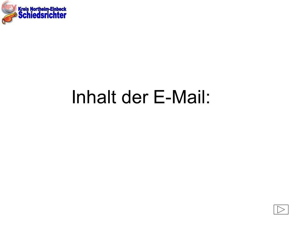 Inhalt der E-Mail: