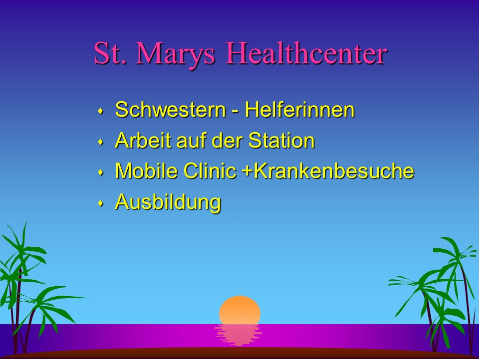 St. Marys Healthcenter Schwestern - Helferinnen Arbeit auf der Station