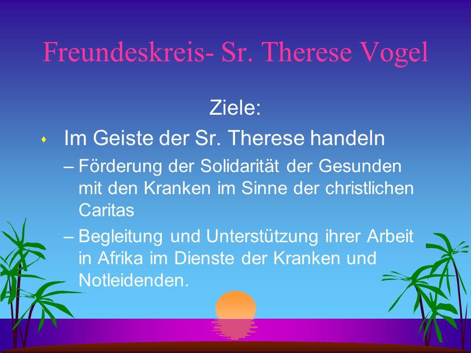 Freundeskreis- Sr. Therese Vogel