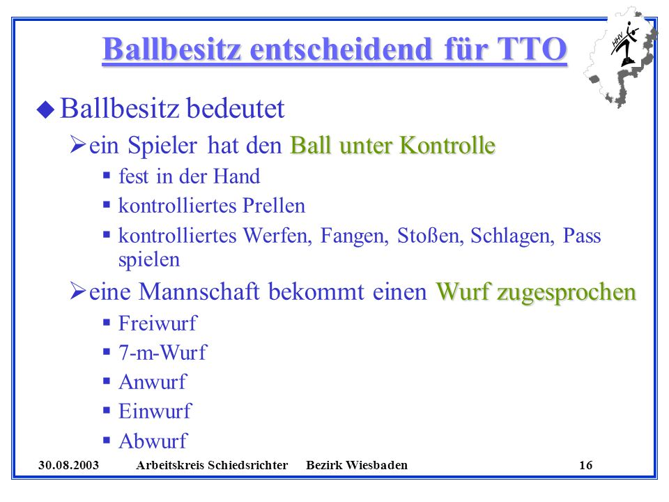 Ballbesitz entscheidend für TTO