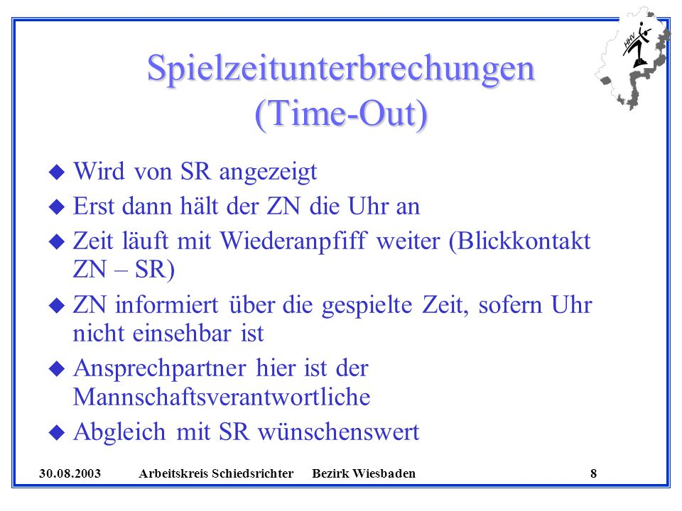 Spielzeitunterbrechungen (Time-Out)