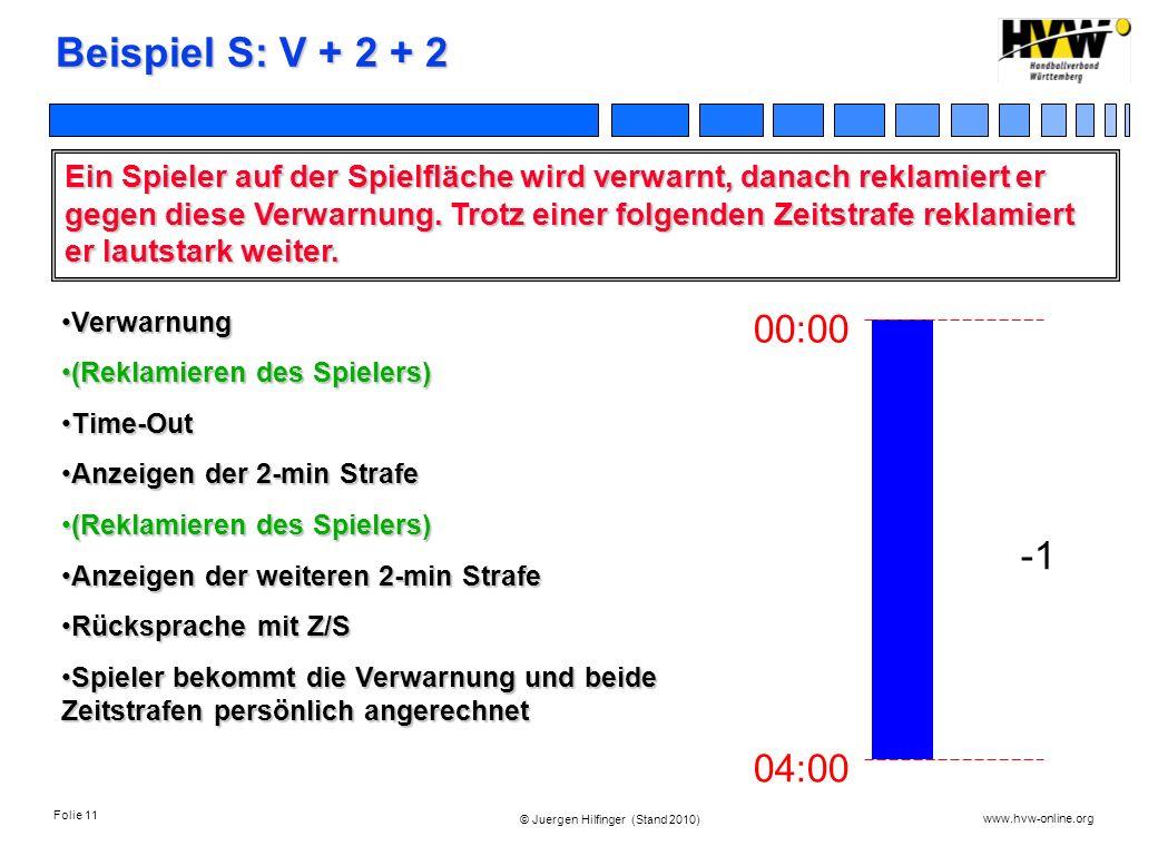 Beispiel S: V + 2 + 2