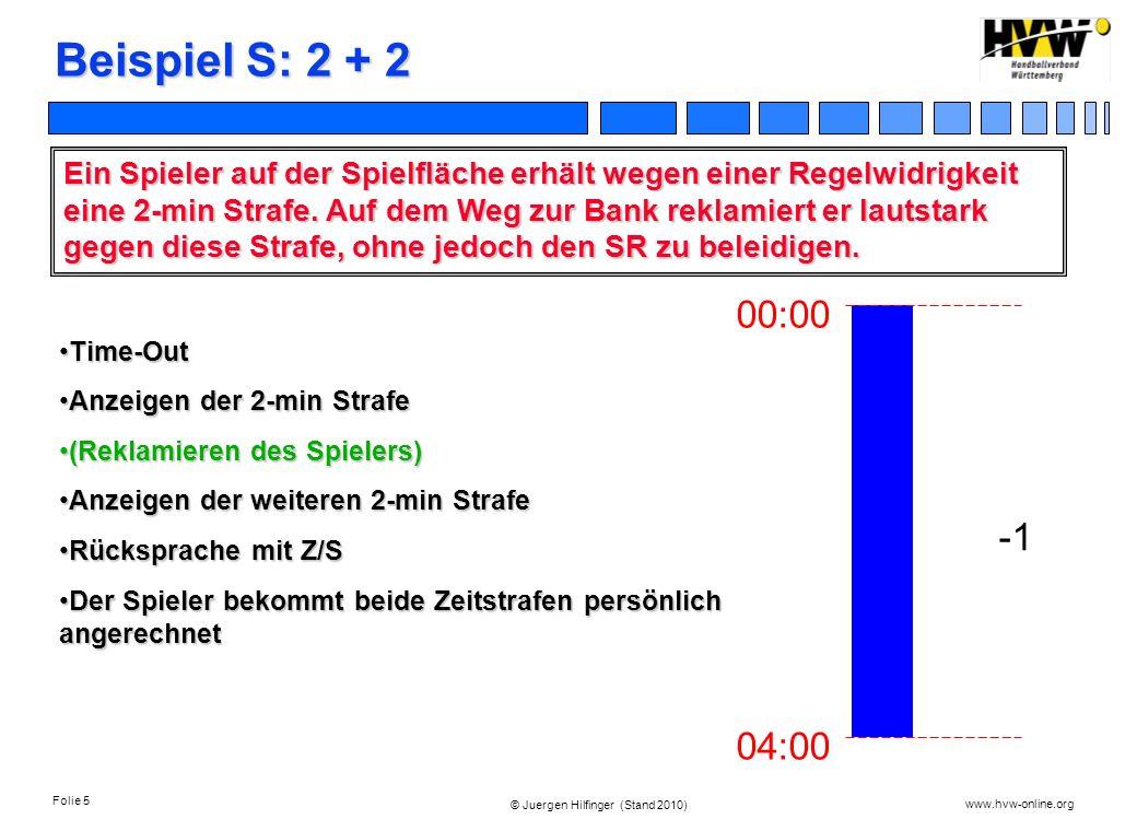 Beispiel S: 2 + 2