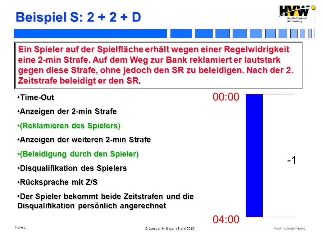 Beispiel S: 2 + 2 + D