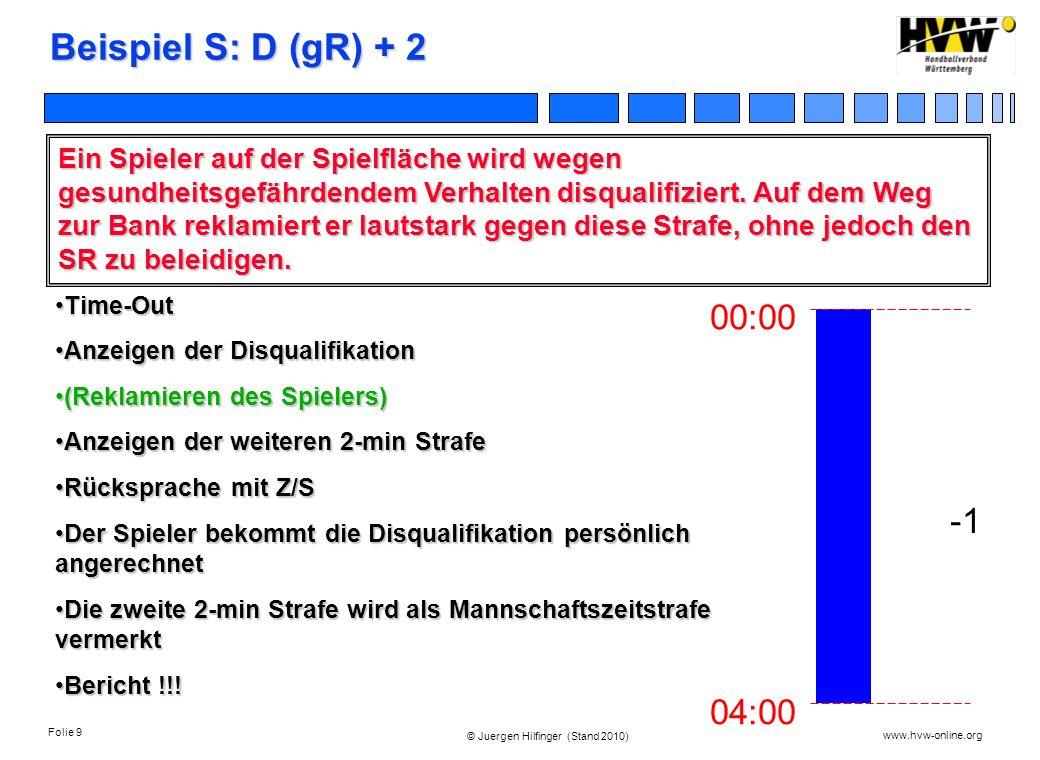 Beispiel S: D (gR) + 2