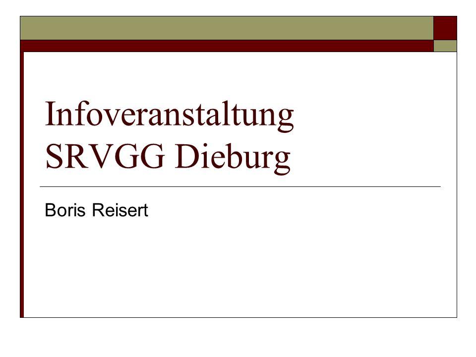 Infoveranstaltung SRVGG Dieburg